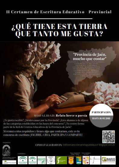 II Certamen de Escritura Educativo-Provincial. CPR Alto Guadalquivir de Coto Ríos