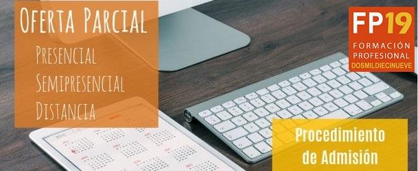 Admisión en módulos profesionales de oferta parcial diferenciada 2019/20