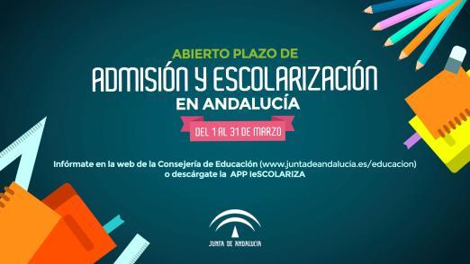 Abierto el proceso de escolarización en Andalucía para el curso 2018/19