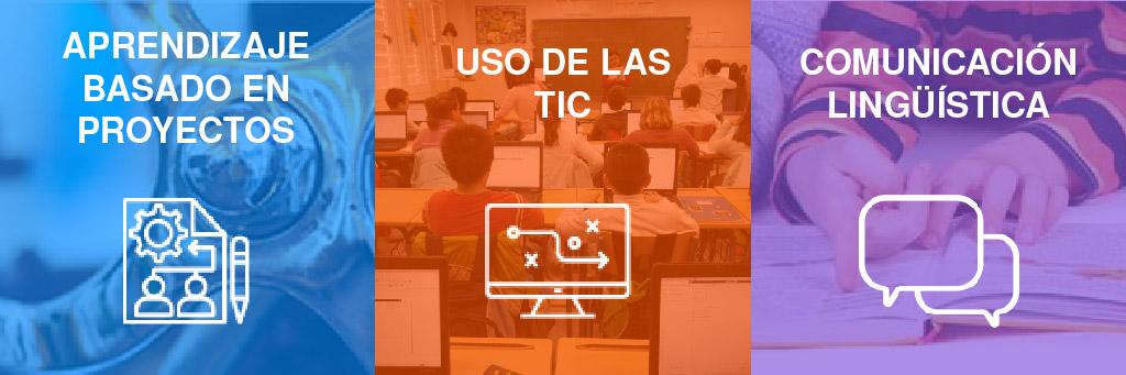 Buenas prácticas educativas (ABP, Uso de las TIC, Comunicación lingüística)