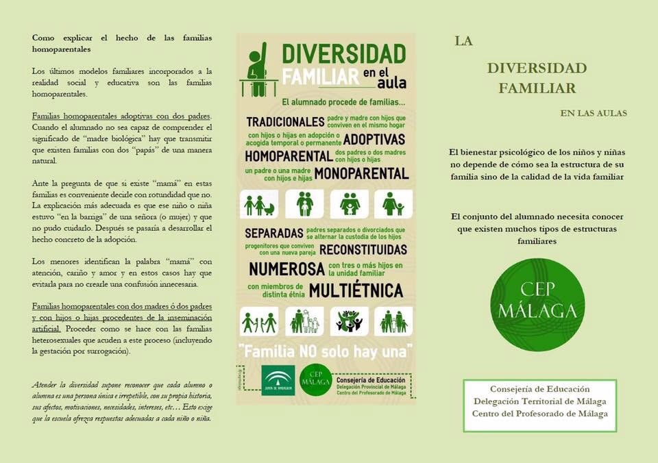 Tríptico diversidad familiar