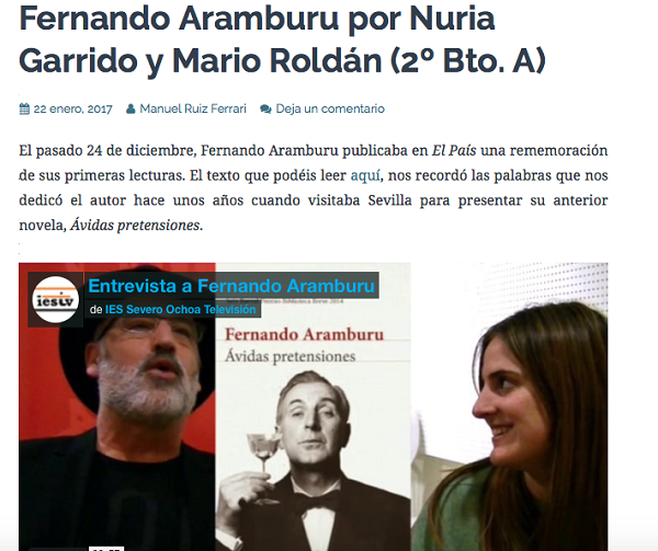 Entrevista Aramburu