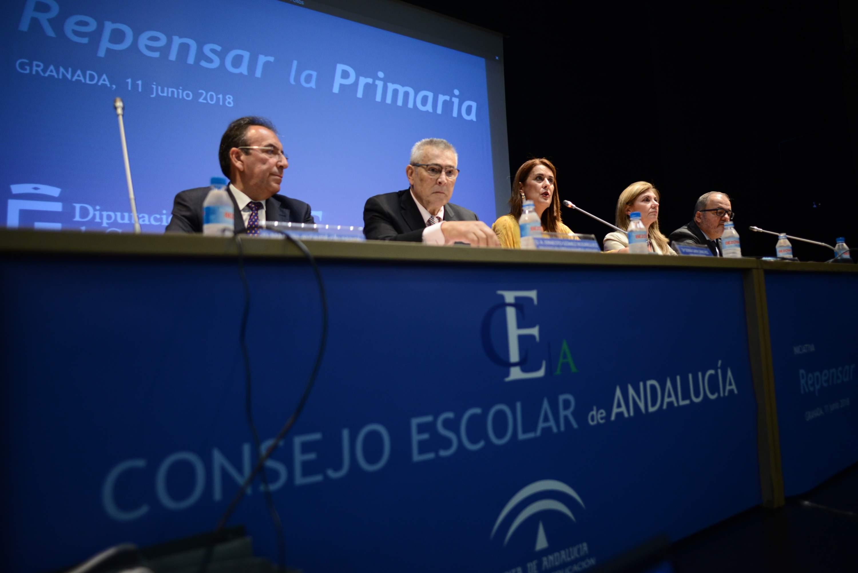 Sonia Gaya en el pleno del Consejo Escolar de Andalucía.