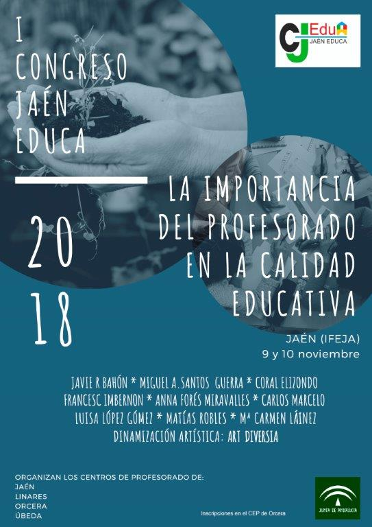 Cartel Congreso Jaén Educa