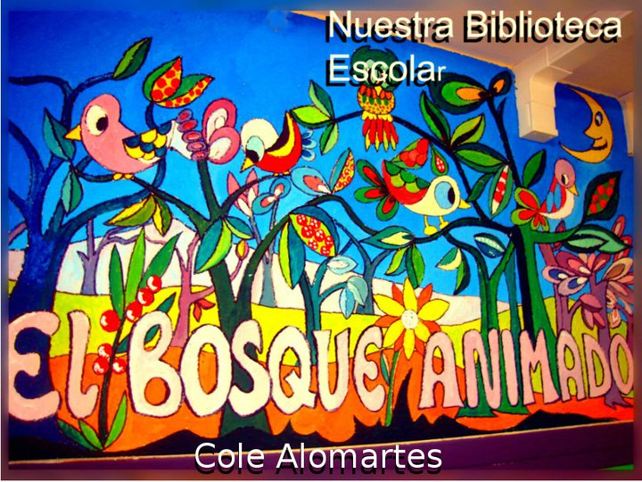 Mural realizado por Luís Martín, nuestro antiguo Jefe de Estudios