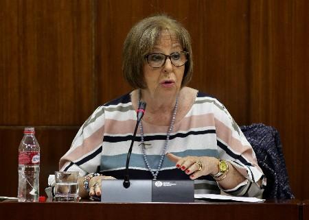 La consejera durante la comisión de Educación