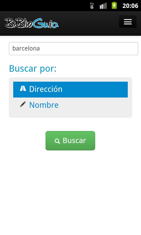 Captura de pantalla de la aplicación Biblioguia 1
