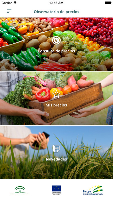 Captura de pantalla de la aplicación Observatorio de Precios y Mercados 1