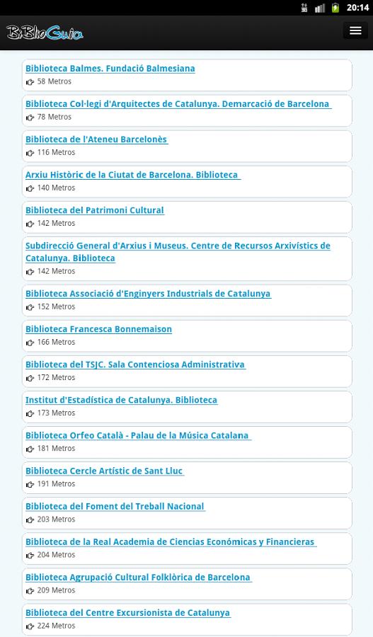 Captura de pantalla de la aplicación Biblioguia 6