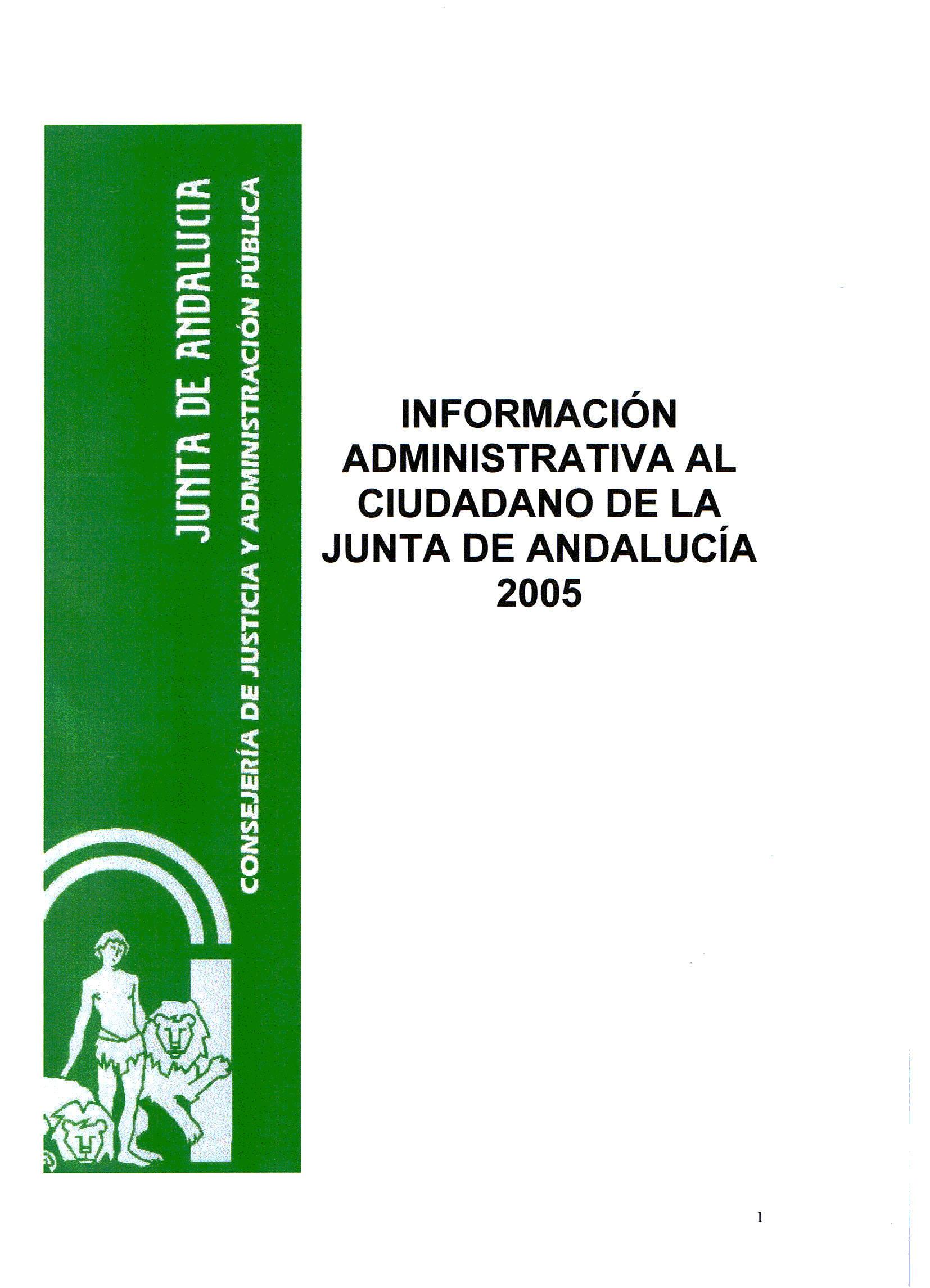 Junta de andaluc a informaci n administrativa al ciudadano en la junta de andaluc a 2005 - Pisos de la junta de andalucia ...