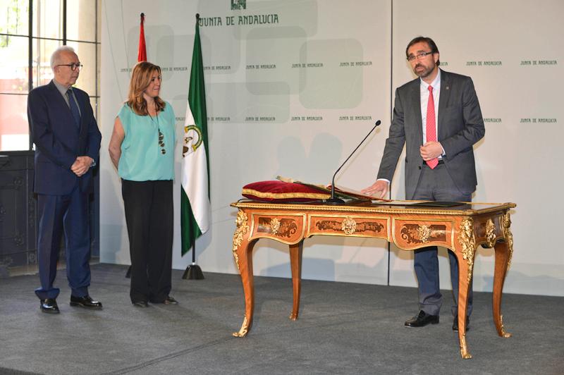 Toma de posesión del rector de la Universidad de Jaén