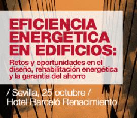 Cartel de las jornadas organizadas por la Agencia Andaluza de la Energía.