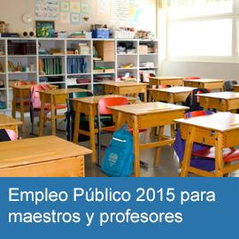 Empleo público maestros