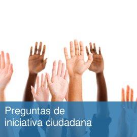 Preguntas de Iniciativa Ciudadana