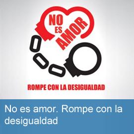 """Campaña contra la desigualdad. """"No es amor"""""""