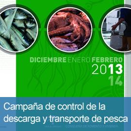 Campaña de control de la descarga y transporte de pesca