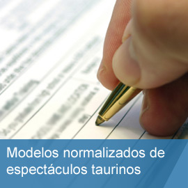 Modelos normalizados de espectáculos taurinos en Andalucía