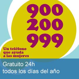 Teléfono 900 200 999 de información a la Mujer