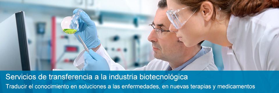 Servicios de transferencia a la industria biotecnológica