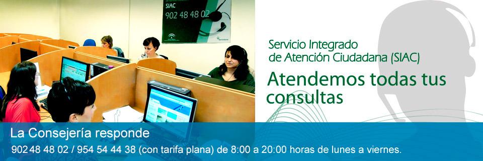 SIAC. Servicio Integrado de atención ciudadana (Medio Ambiente)