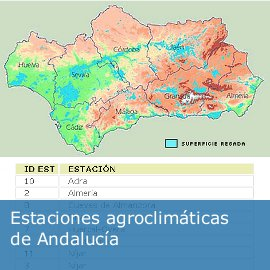 Estaciones agroclimáticas de Andalucía