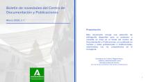 Cubierta del Boletín de novedades del Centro de Documentación y Publicaciones