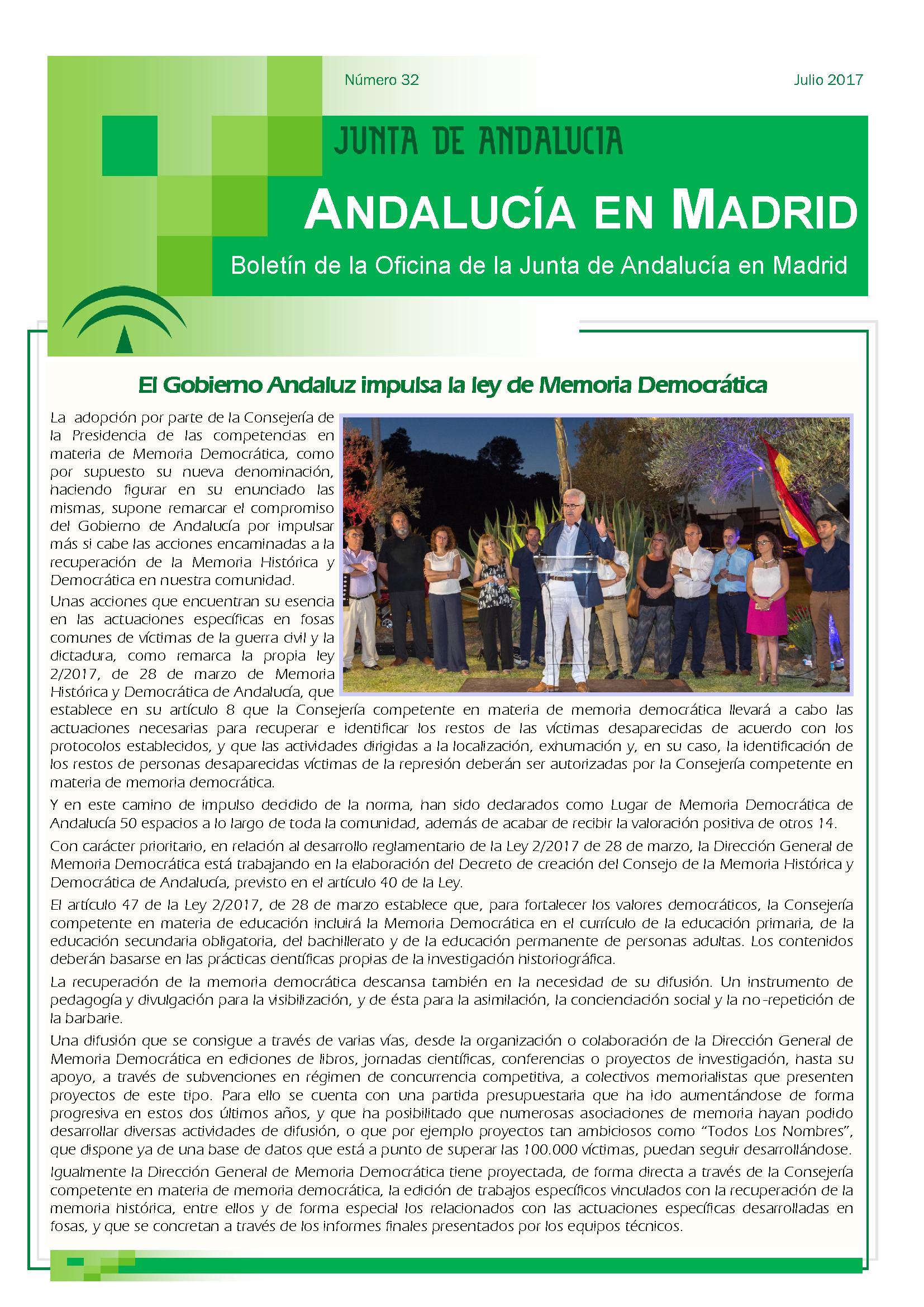 Junta de andaluc a oficina jda en madrid for Oficina junta de andalucia