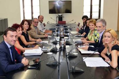 Un momento de la reunión celebrada hoy en San Telmo.