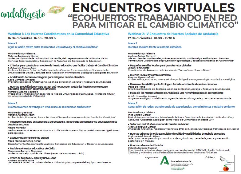 Encuentros virtuales de ecohuertos