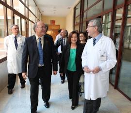 Sánchez Rubio visita los servicios de Urgencias y Radiología del Consorcio Sanit