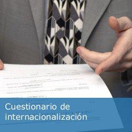 Cuestionario de internacionalización