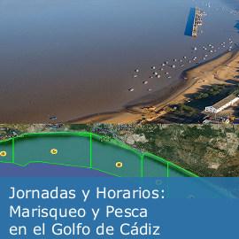 Marisqueo y pesca en el Golfo de Cádiz