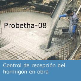 Control de recepcion del hormigon de obra