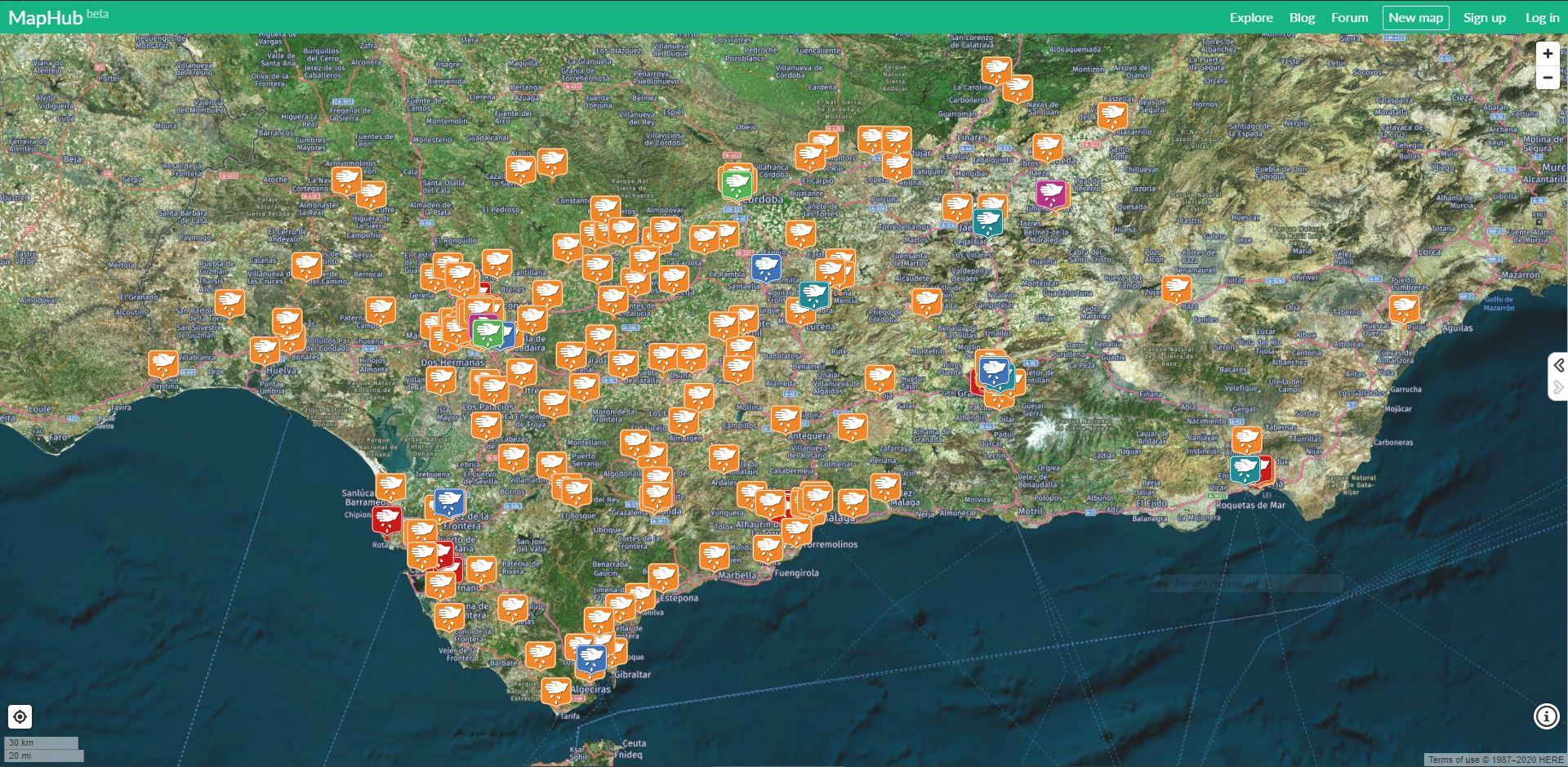 mapa de huertos urbanos