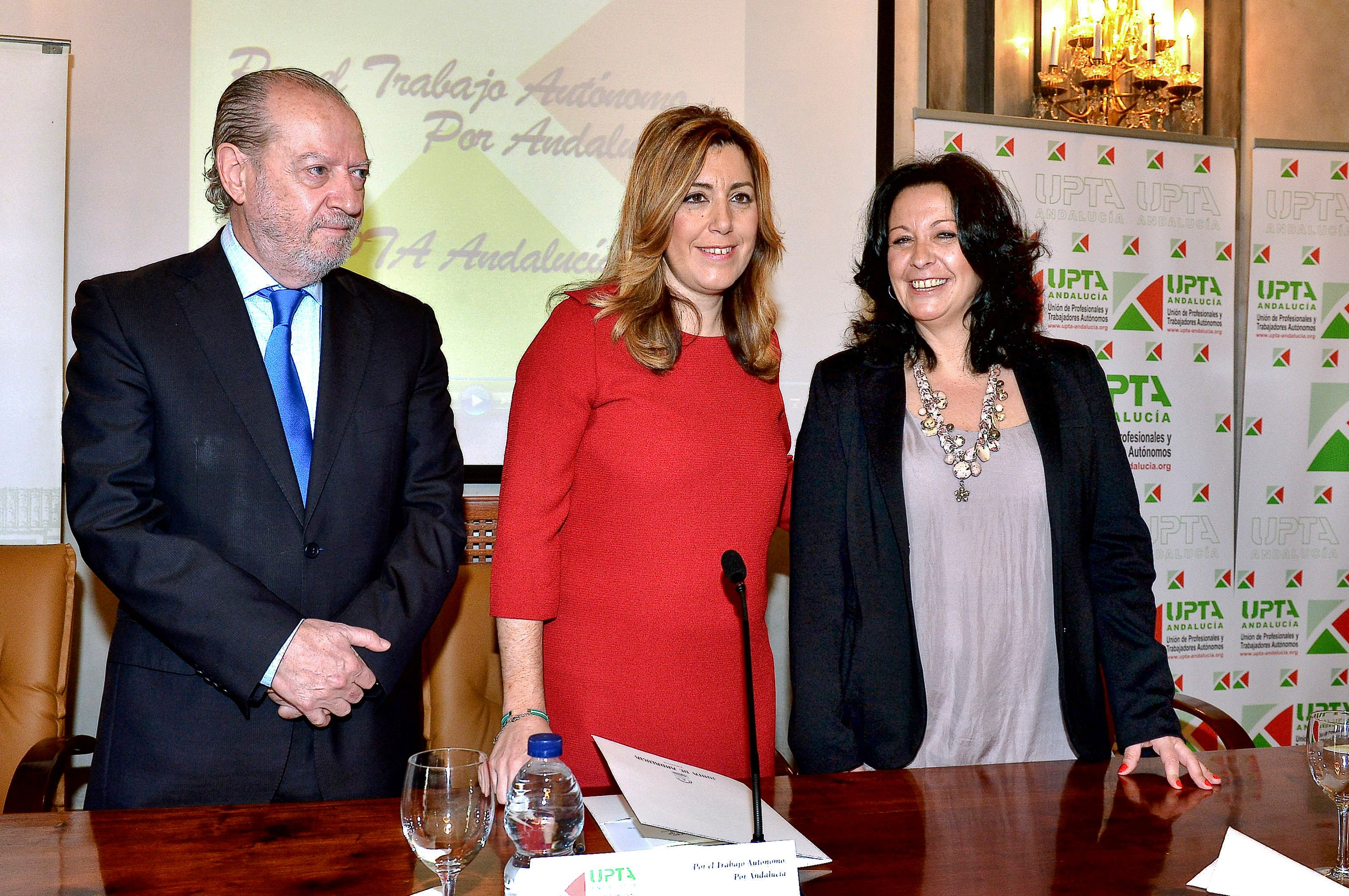 La presidenta, Susana Díaz, durante el acto dela UPTA