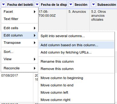 Añadir columna a partir de otra en OpenRefine