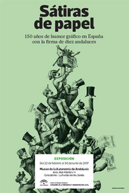Exposición 'Sátiras de papel. 150 años de humor gráfico en España con la firma de diez andaluces'