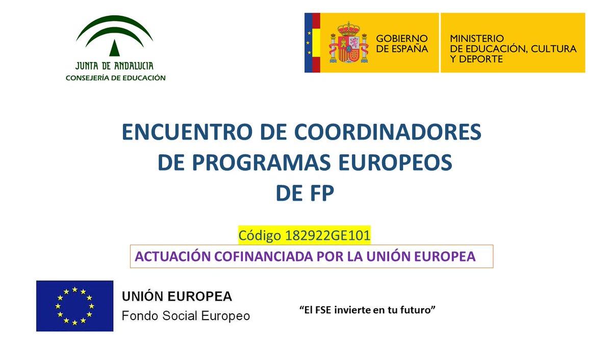 Encuentro de coordinadores de programas europeos en el ámbito de la formación profesional
