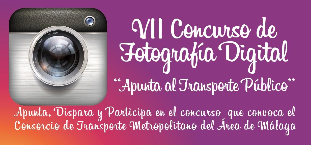 """El  Consorcio de Transporte de Málaga convoca el VII Concurso de Fotografía Digital """"Apunta al Transporte Público"""""""