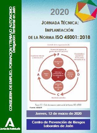 Jornada técnica: Implantación de la Norma ISO 45001:2018