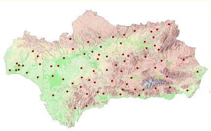 Mapa Andalucía