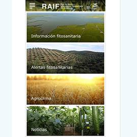Captura de pantalla de la aplicación RAIF Andalucía 1
