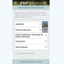 Captura de pantalla de la aplicación RAIF Andalucía 2