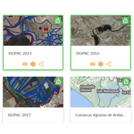 Captura de pantalla de la aplicación Geoportal de Agricultura, Pesca y Desarrollo Rural 1