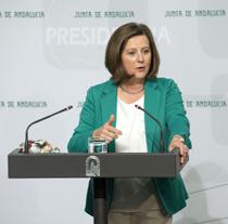 María José Sánchez Rubio, consejera de Igualdad y Políticas Sociales de la Junta.