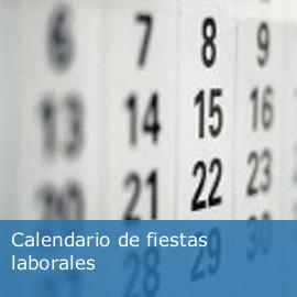 Calendario de fiestas laborales