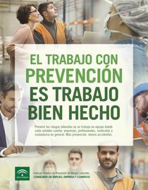 """Imagen de la campaña """"El trabajo con prevención es trabajo bien hecho. Más prevención, menos accidentes"""""""