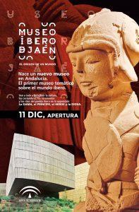 Cartel de apertura del Museo Íbero
