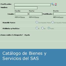 Catálogo de Bienes y Servicios del SAS