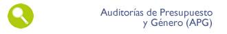 Auditorías de Presupuesto y Género (APG)